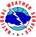 National Weather Service Icon with lightning bolt