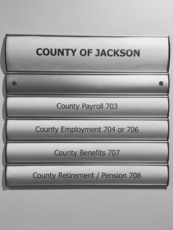 Jackson County Human Resources Department Sign