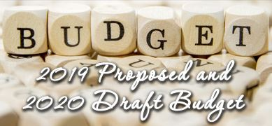 2019 Proposed & 2020 Draft Budget