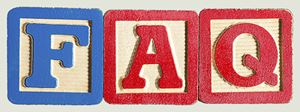 Letter blocks with letters F and A and Q for FAQ