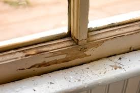 chipping paint in window sill