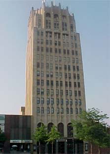 Front View of Tower Building